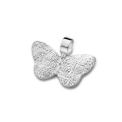 Butterfly Pendant i hvidguld