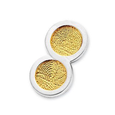 Endless Pendant i guld med kant i hvidguld