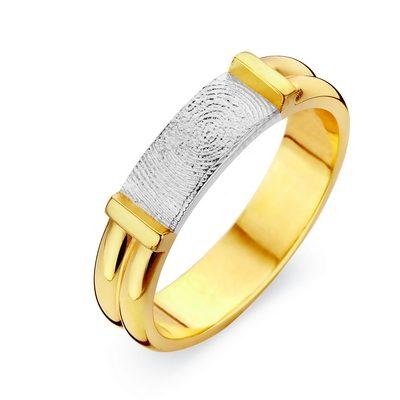 Forever Ring imed fingeraftryk i hvidguld
