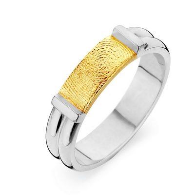 Forever Ring imed fingeraftryk i guld