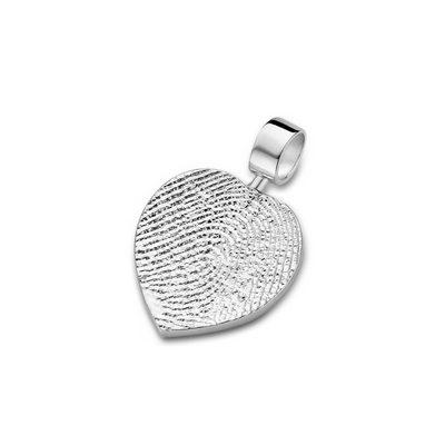 Heart Pendant i hvidguld