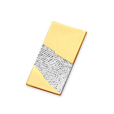 Light Pendant i hvidguld med kant i guld