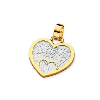 Loved One Pendant i hvidguld med kant i guld