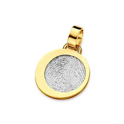 Precious Pendant i hvidguld med kant i guld