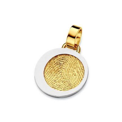 Precious Pendant i guld med kant i hvidguld
