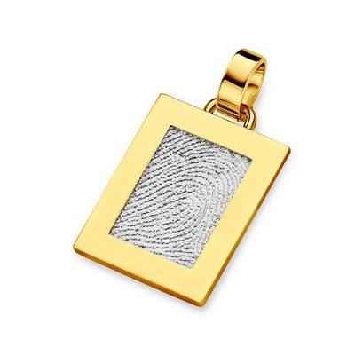 Pure Pendant i hvidguld med kant i guld