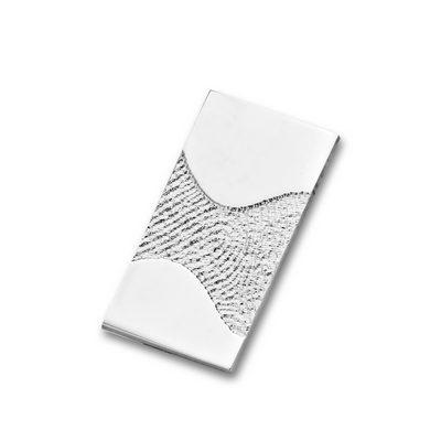 Wave Pendant i hvidguld