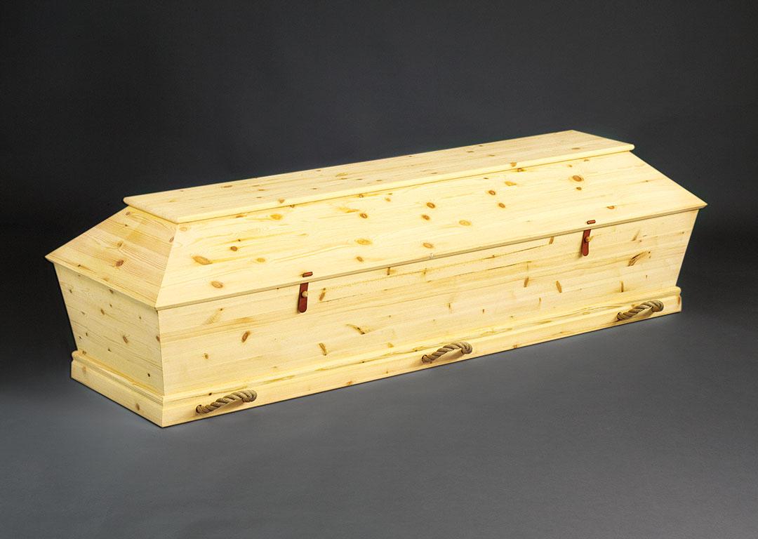 Kiste i ubehandlet fyr